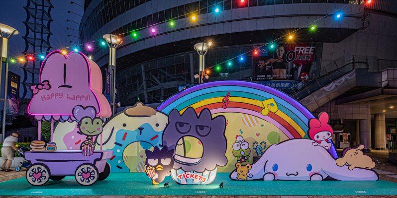 「樂園萌餐車」效仿遊樂園的餐車文化,造景周邊還有各個主角們,隨拍隨美。圖/漢神巨蛋提供
