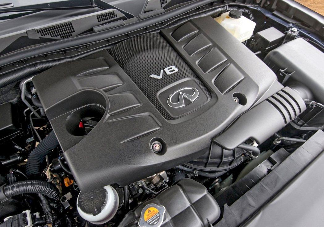5.6升V8引擎,有400hp馬力和57.1kgm的扭力。 摘自Infiniti