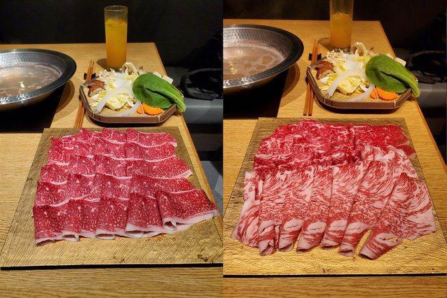 曾有網友拍下每盤肉品觀察吃到飽餐廳出肉的品質。圖擷自PTT網友ejywar