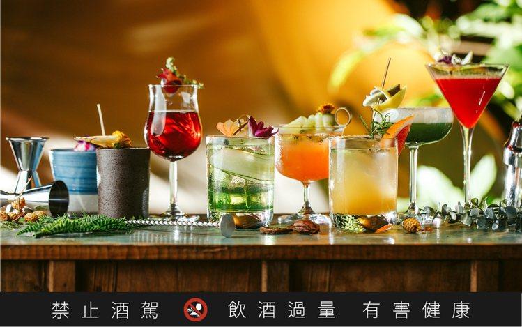Chill Play以茶酒為基礎,推出多重風味的調酒。圖/Chill Play提...