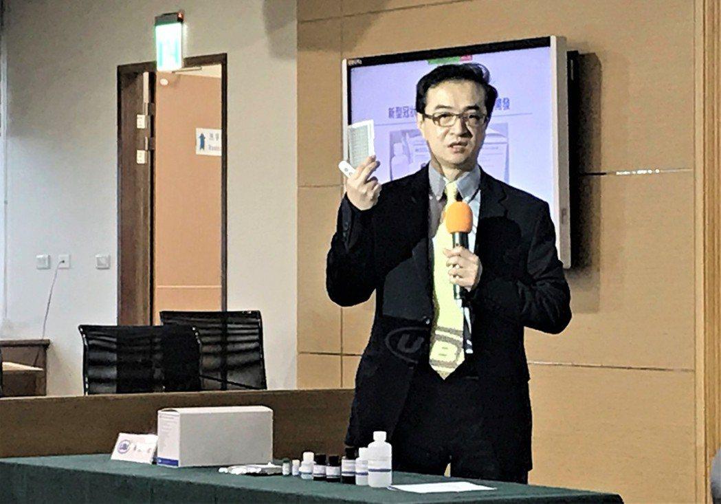 聯亞藥營運長彭文群博士。記者李珣瑛/攝影