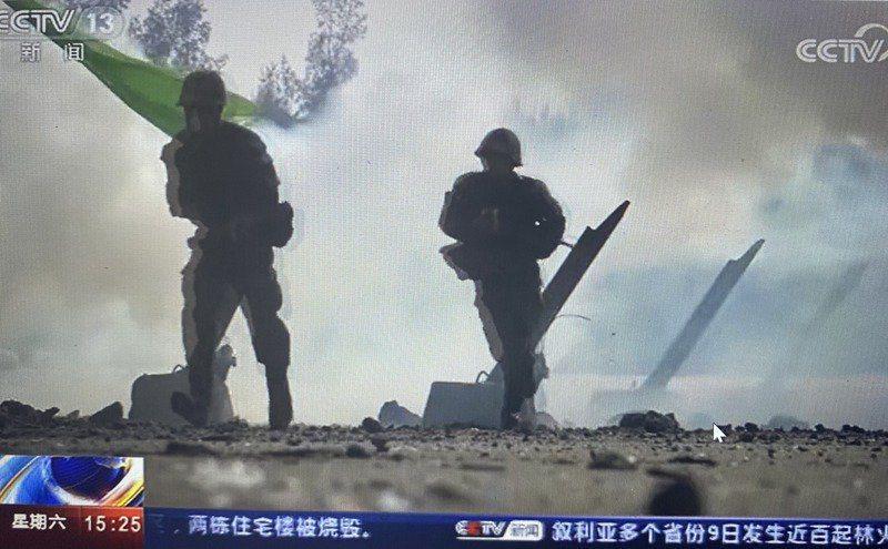 共軍第73集團軍演練兩棲登陸作戰。(央視截圖)