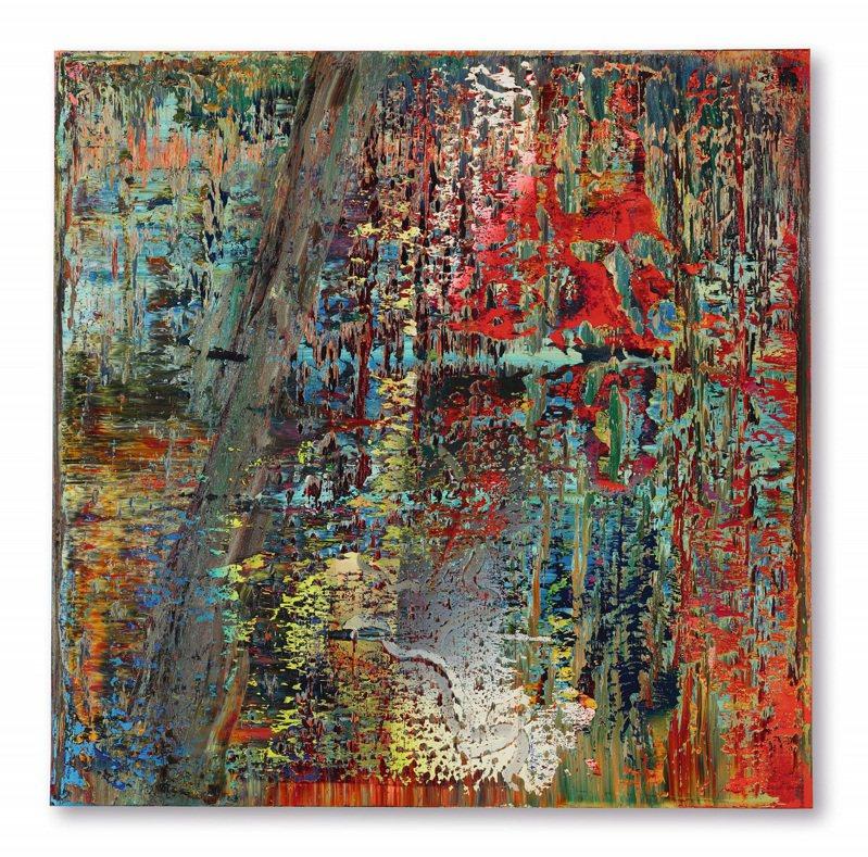 Gerhard Richter作品「抽象畫(649-2)」以2.15億港元(逾8億元台幣)創西方藝術品在亞洲拍賣之最高成交價紀錄。圖/蘇富比提供
