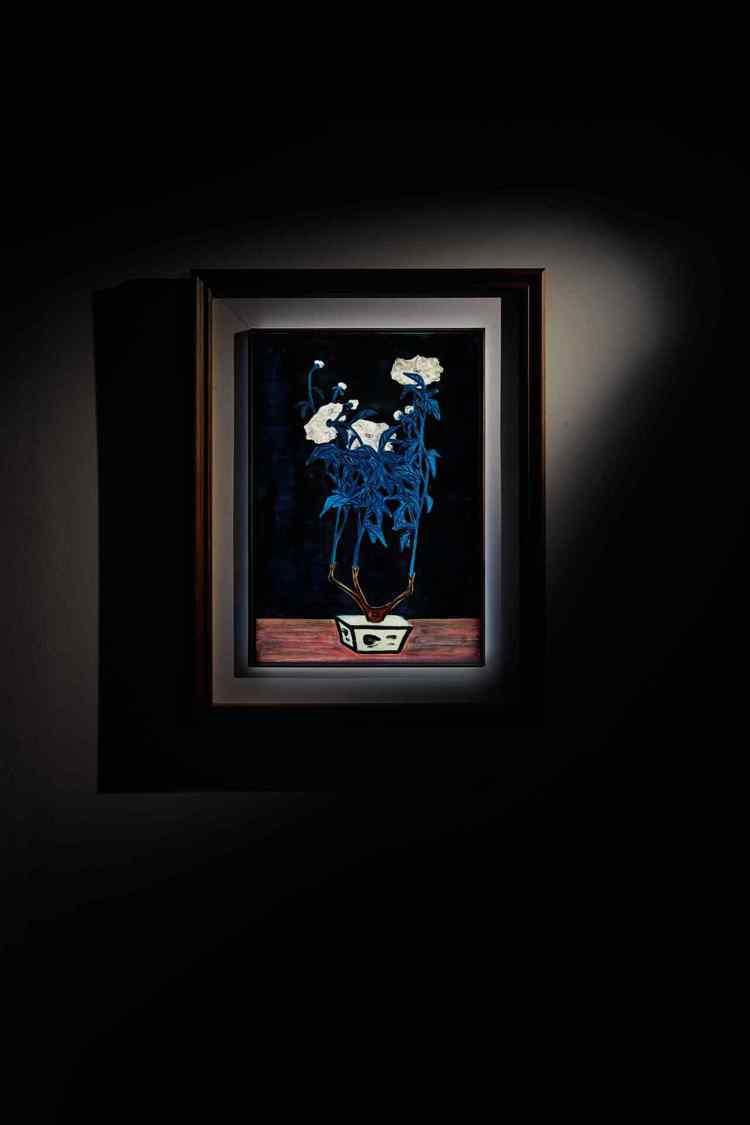 常玉「青花盆與菊」以1.87億港元(約6.9億元台幣)成交。圖/蘇富比提供