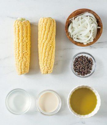 黑藜麥玉米濃湯材料。 圖/台灣廣廈提供