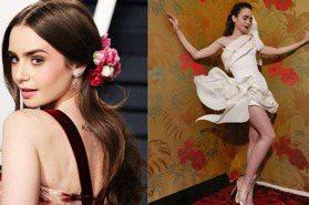 《艾蜜莉在巴黎》莉莉柯林斯藏在華服下的身材比服裝更吸睛!身材管理秘訣公開超佛系