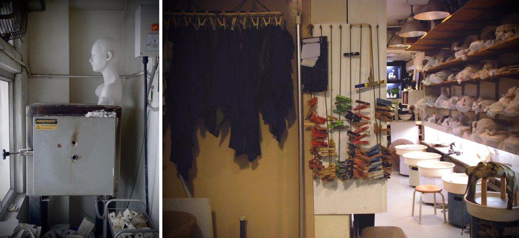 羅士亷的香港工作室,他在這裡教學生陶藝課,夜晚下課後再自己創作到半夜2、3點。 ...