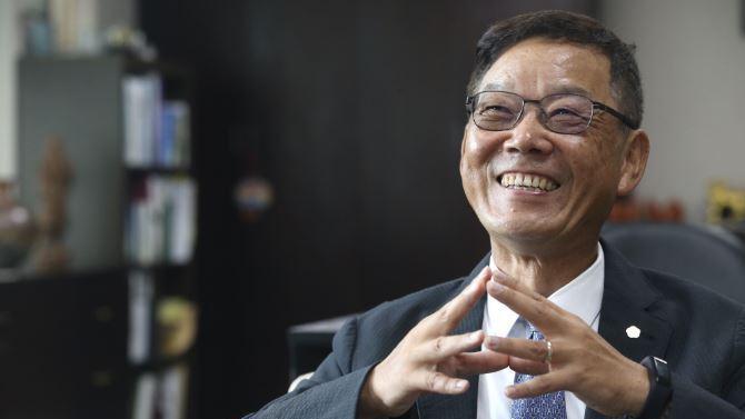 勤美集團董事長林廷芳。 記者林俊良/攝影