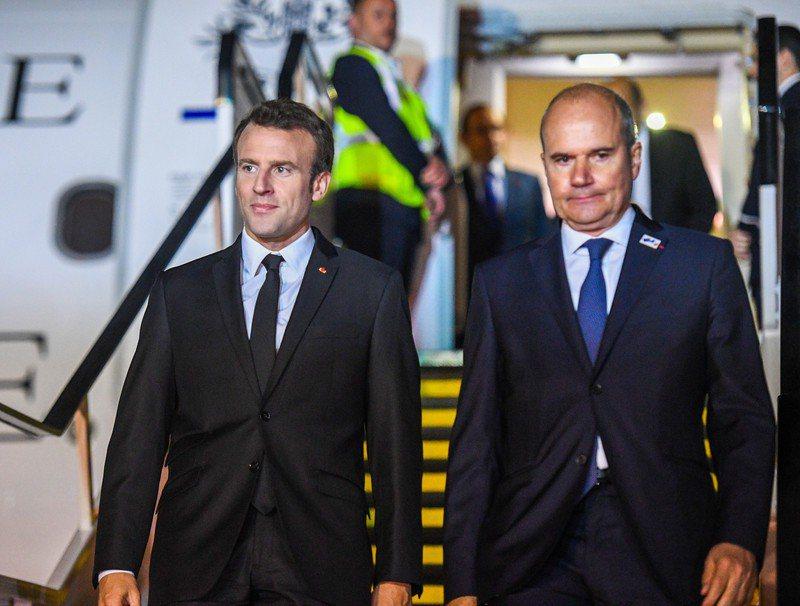 中國在太平洋地區擴張勢力,法國將指派駐澳洲大使博諾(右)為首位「印太大使」。歐新社資料照