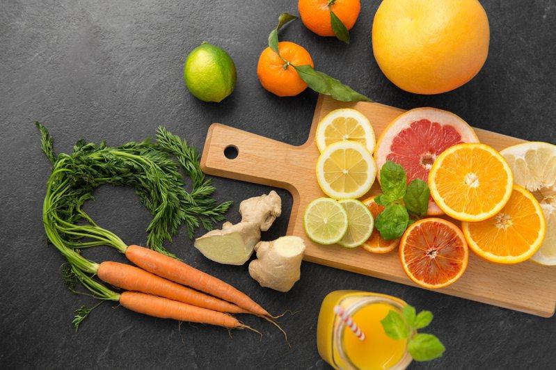 蔬菜水果示意圖。 Ingimage