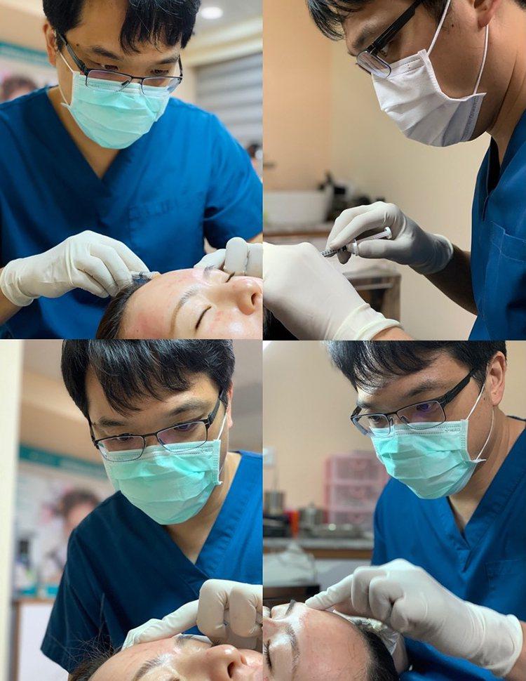 施打填充物是最常見的微整形 ,但一定要慎選熟悉人體結構及了解填充物特性的醫師 ,才不會打出凹凸不平的額頭 。(圖為沐妍時尚美學診所提供)