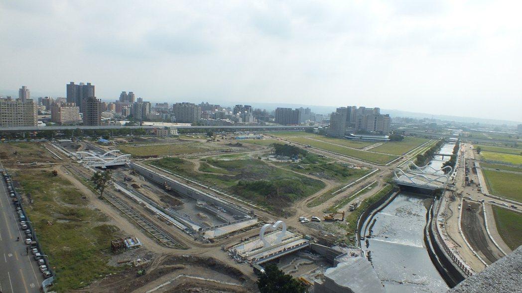 台中市13期重劃區鳥瞰圖。圖/商總提供