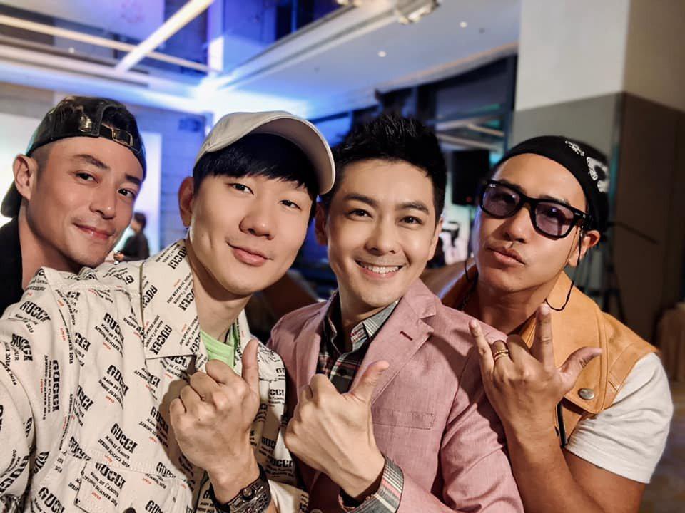 霍建華(左起)、林俊傑、歐漢聲(右)都出席林志穎為媽媽舉辦的壽宴。圖/摘自臉書