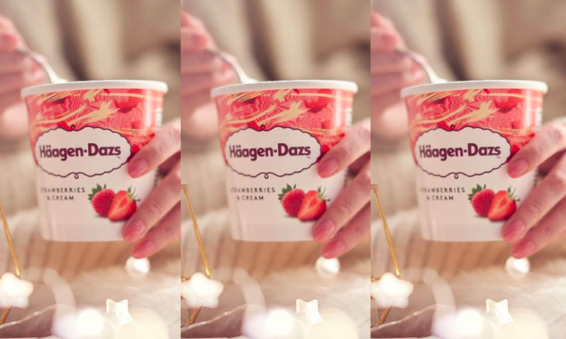 哈根達斯經典草莓口味。 圖/哈根達斯IG