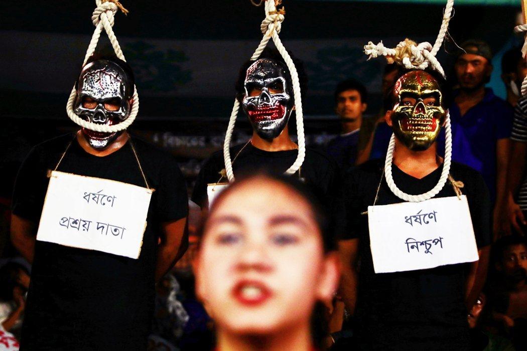 10月初孟加拉的示威。 圖/路透社