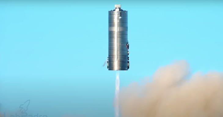 星艦火箭。Photo Credit: LabPadre 直播紀錄截圖