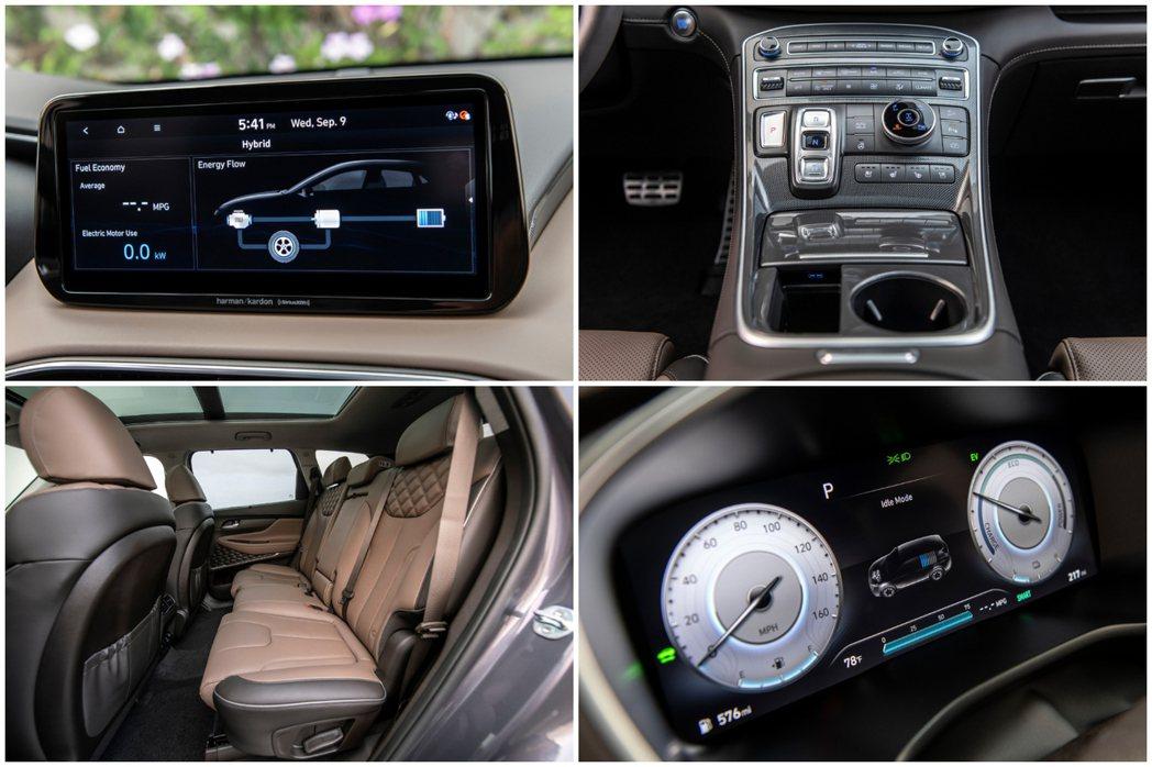 小改款美規Hyundai Santa Fe高階車型改搭全新10.25吋附有導航系...