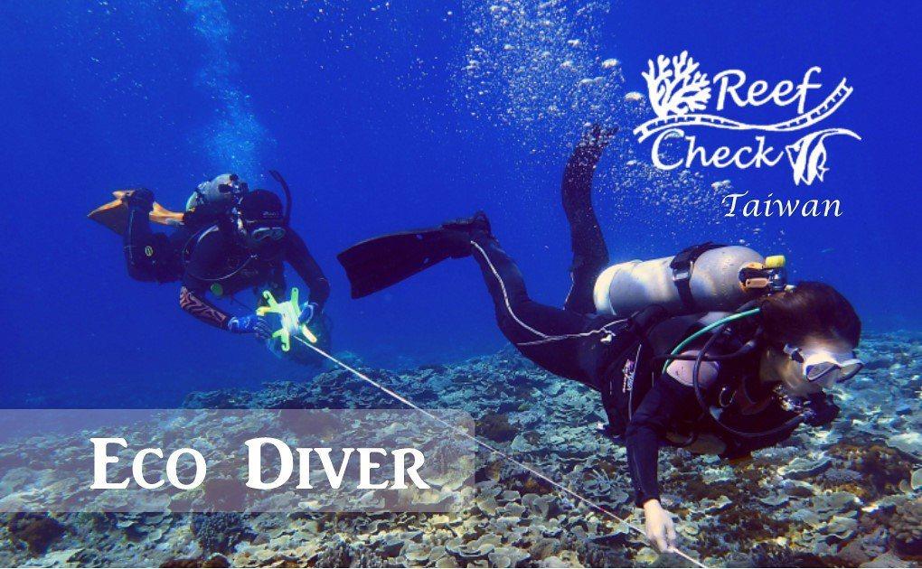 陳玄州為讓更多人參與體檢珊瑚礁,開設 Eco Diver 諌程。 圖/陳玄州提供