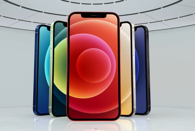 iPhone 12共有五種顏色可供選擇。 圖截自蘋果官網
