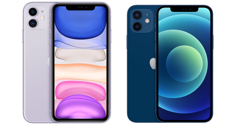 左、右分別為iPhone 11、iPhone 12。圖截自蘋果官網