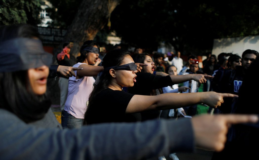 2019年12月,示威者抗議印度的性暴力問題。 圖/路透社