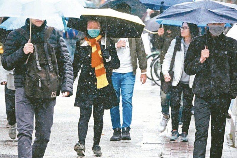 北北基宜今天防大雨。聯合報系資料照