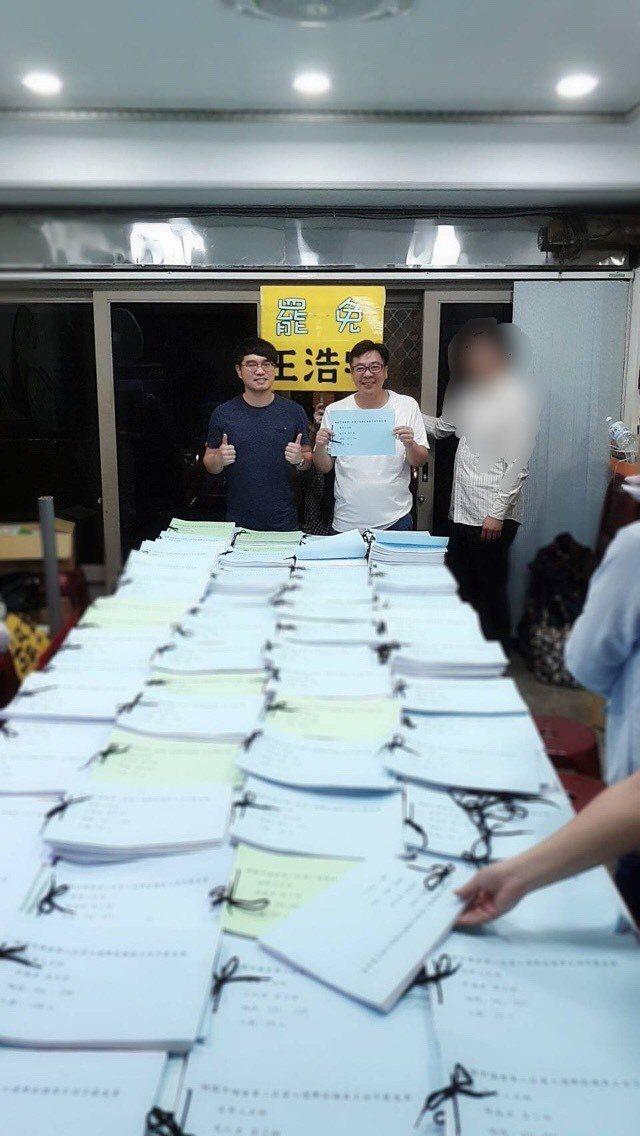 罷免王浩宇發起人唐平榮。圖/罷王總部提供