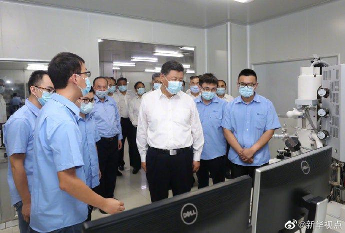 10月12日,大陸國家主席習近平在廣東考察大陸企業。 新華社