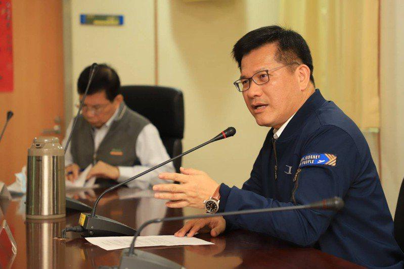 交通部長林佳龍仍收假上工首日隨即召開疏運檢討會議。圖/交通部提供