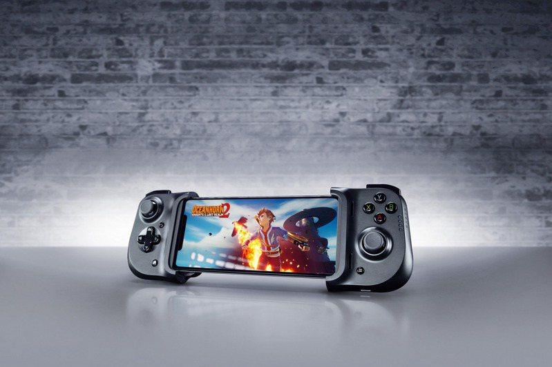 Razer Kishi可輕鬆把遊戲主機級的操控體驗帶到iOS裝置上。圖/Razer提供