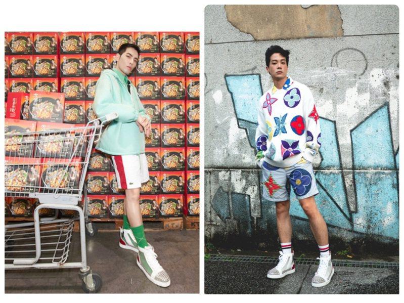 蕭敬騰和薛仕凌詮釋Christian Louboutin Sosoxy高筒鞋。圖/Christian Louboutin提供