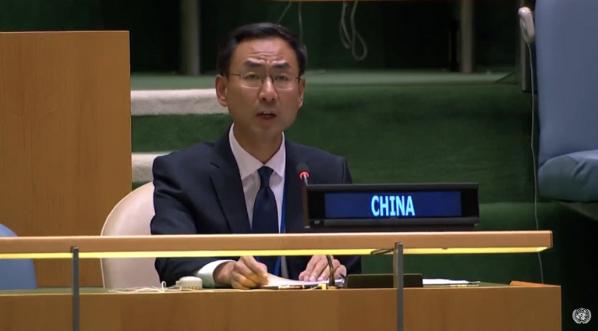 中國大陸常駐聯合國副代表耿爽。(澎湃新聞網)