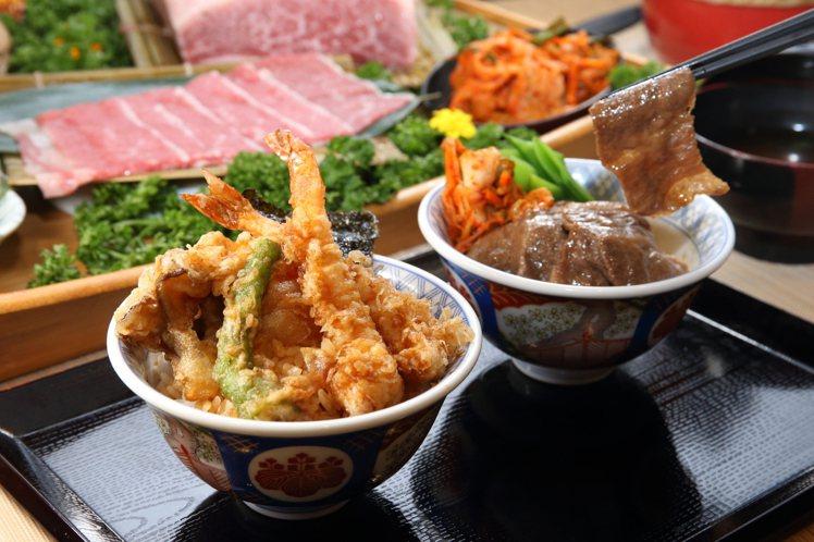 金子半之助、老乾杯攜手推出「日本和牛雙饗丼」,每份520元。記者陳睿中/攝影