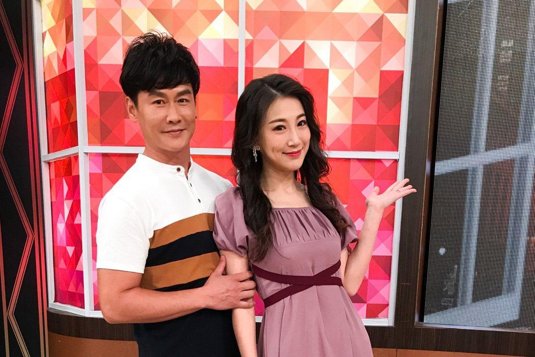 沈世朋(左)和愛妻李新上「一袋女王」。圖/衛視提供