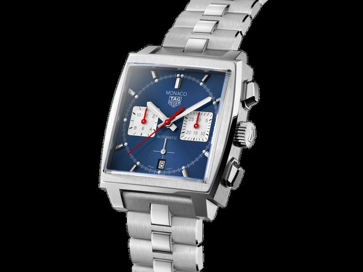 泰格豪雅Monaco H02自動計時腕表,不鏽鋼表殼、表鍊,約22萬2,100元...