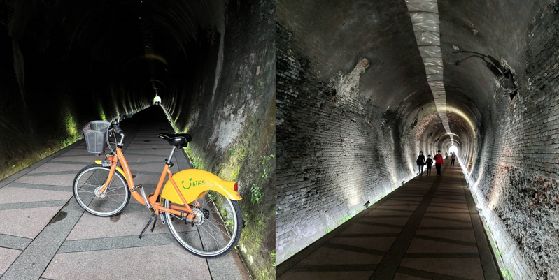 「五堵舊隧道單車道」於109年10月落成啟用,受到許多民眾的喜愛。 圖/IG網友BDPro便當教授授權