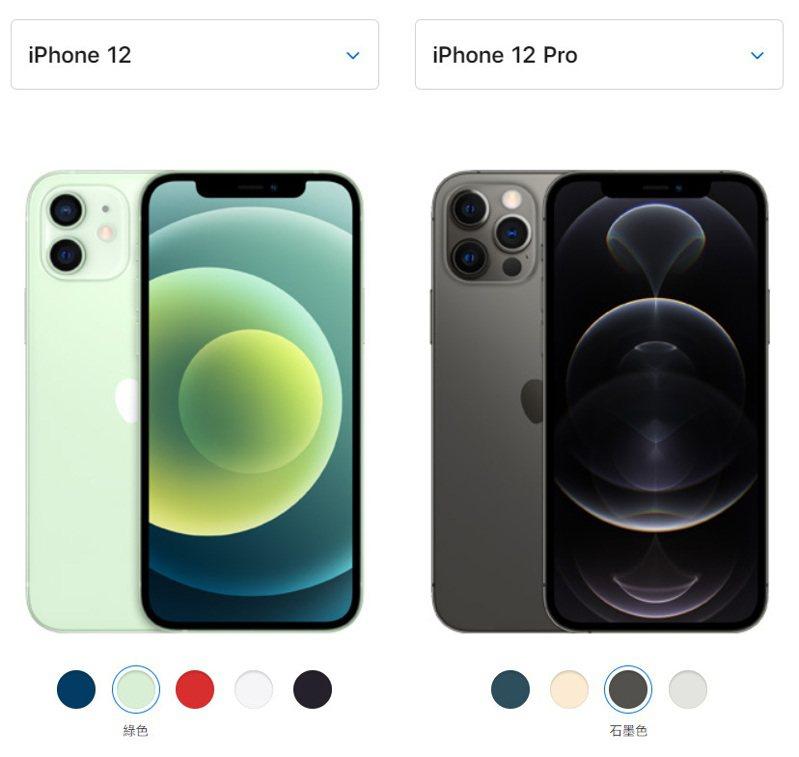 蘋果公司發表新機iPhone 12系列,台灣消費者可於10月16日起預購iPhone 12及iPhone 12 Pro。圖擷自蘋果官網