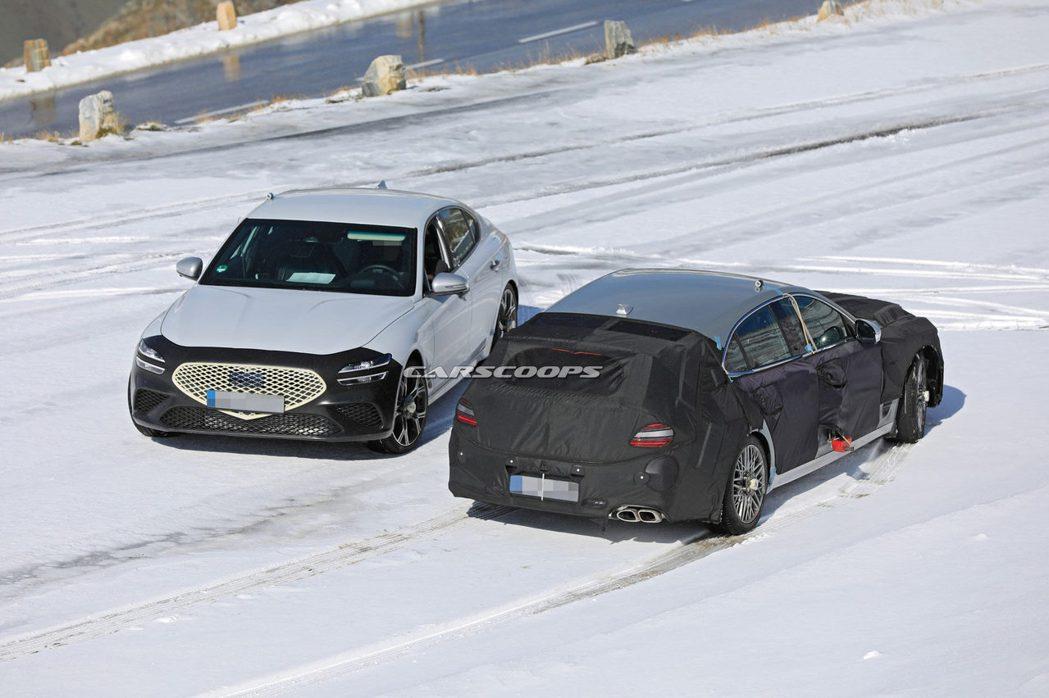 全新Genesis G70 Shooting Brake與小改款運動房車G70的...