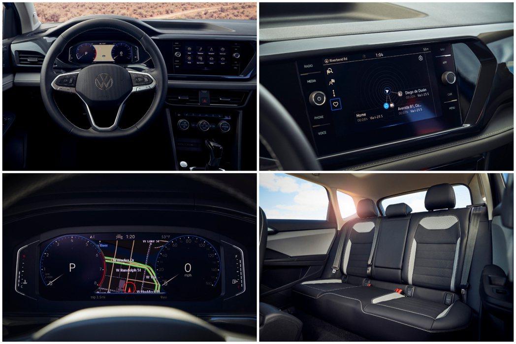 全新Volkswagen Taos配置了八吋中控觸控式螢幕。 摘自Volkswa...
