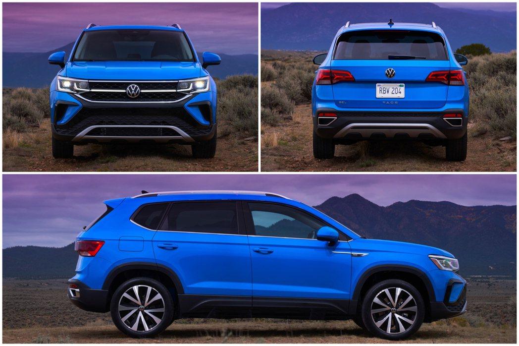全新Volkswagen Taos車長4,465mm、車寬1,842mm、車高1...