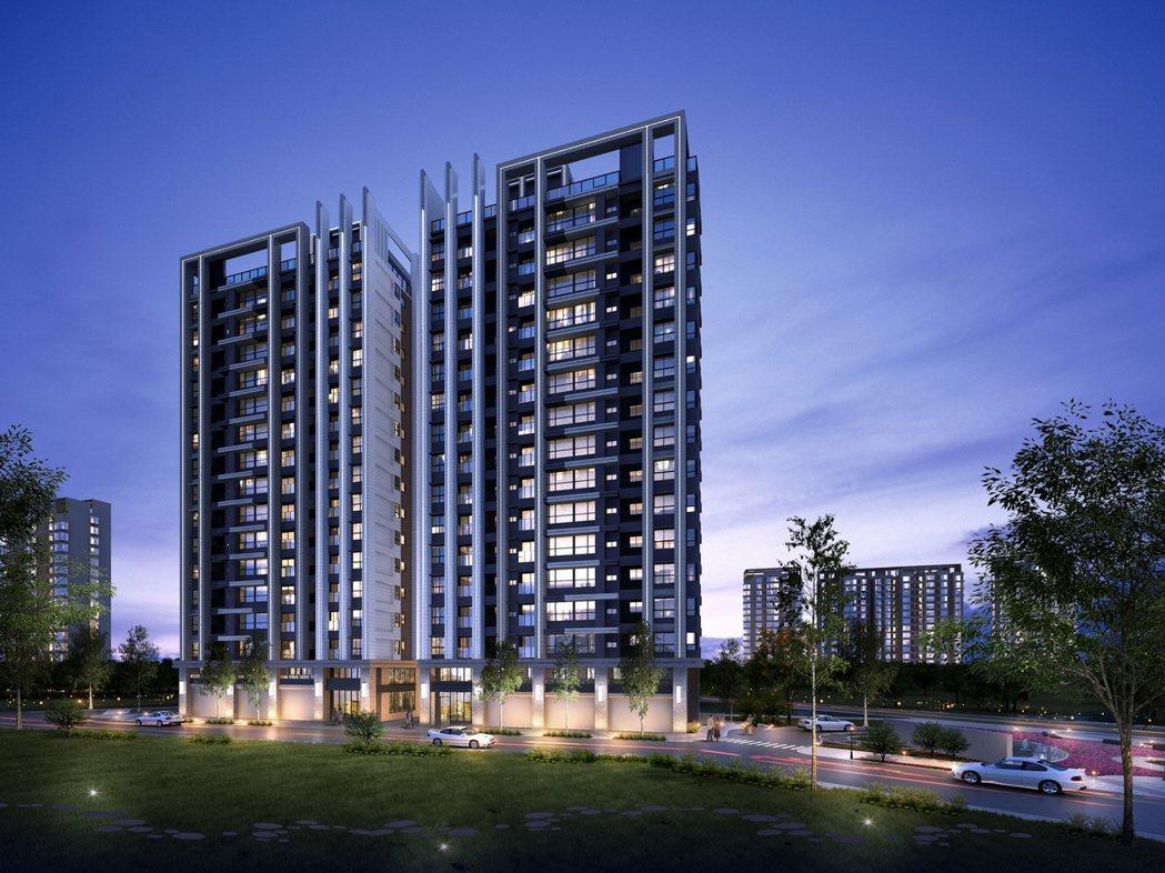 「關渡左岸-天湛」基地面積約983坪,規劃AB兩棟地上15樓、地下3樓的耐震建築...