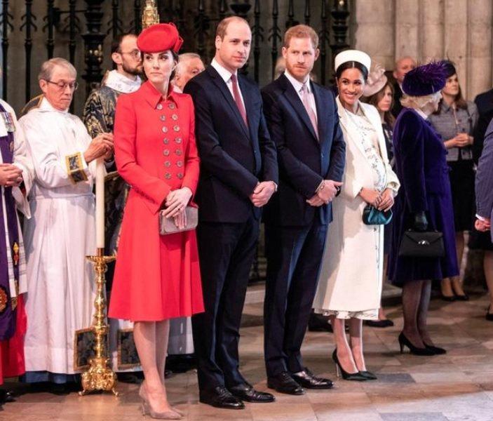 凱特(左起)、威廉與哈利、梅根兩對夫妻之間的愛恨糾葛,備受各方矚目。圖/路透資料...