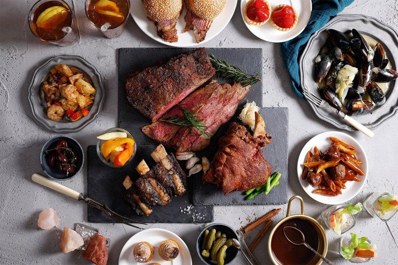 君悅推出肉食主義吃到飽方案,還有雙人1408元的限量優惠券。圖/君悅提供