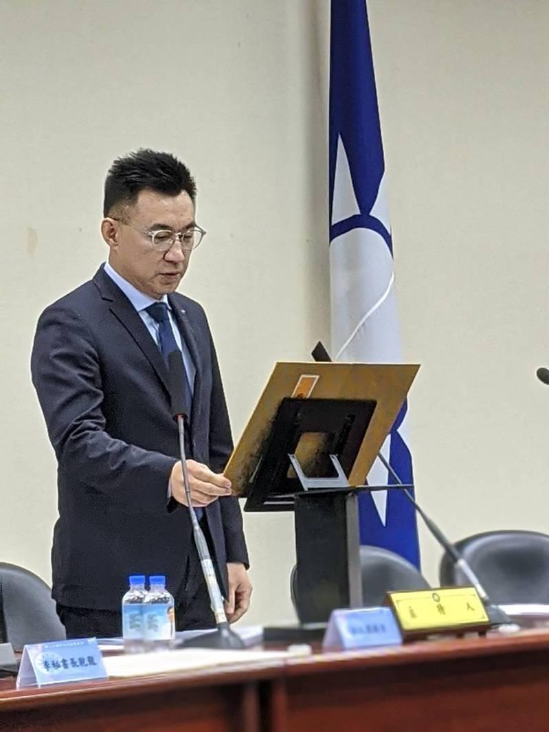 國民黨主席江啟臣。記者劉宛琳/攝影