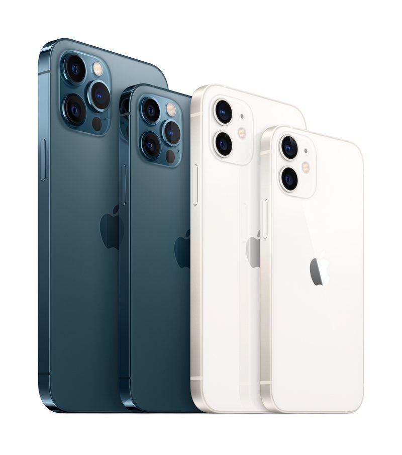 蘋果發表4款5G規格的iPhone 12系列新機,其中iPhone 12與iPhone 12 Pro將搶先於10月16日開放預定,10月23日正式發售。圖/蘋果提供
