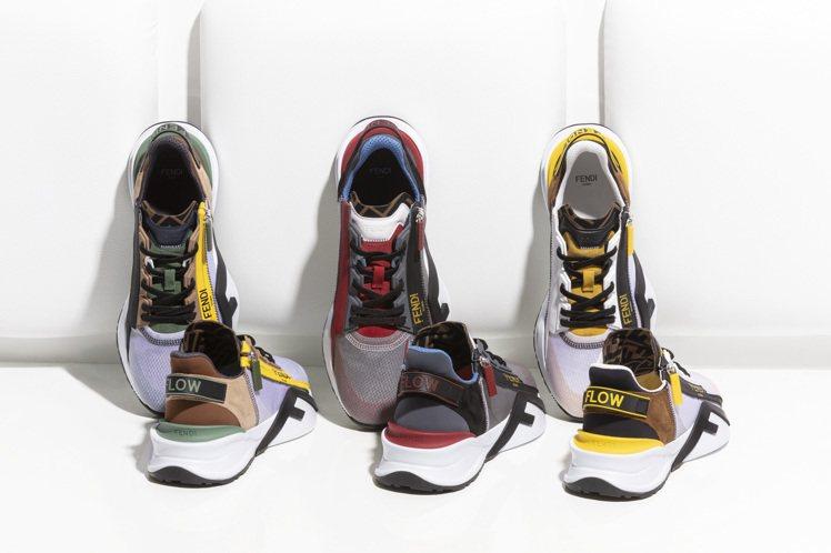 FENDI推出了全新的FENDI Flow中性運動鞋,包括撞色款與黑色、白色款。...