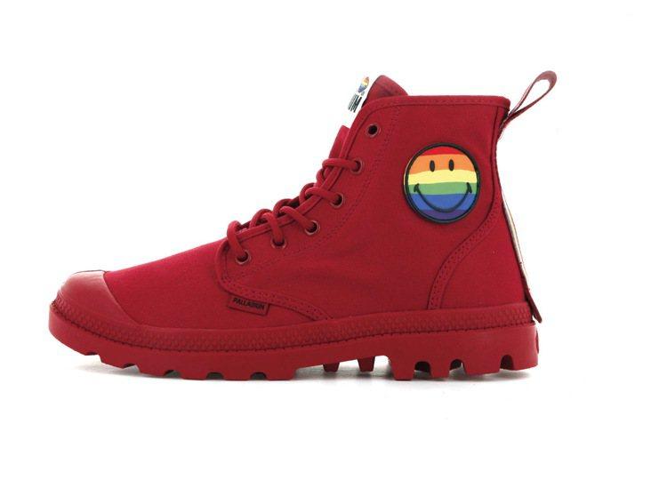 Palladium彩虹微笑特別紀念系列靴2,980元。圖/Palladium提供