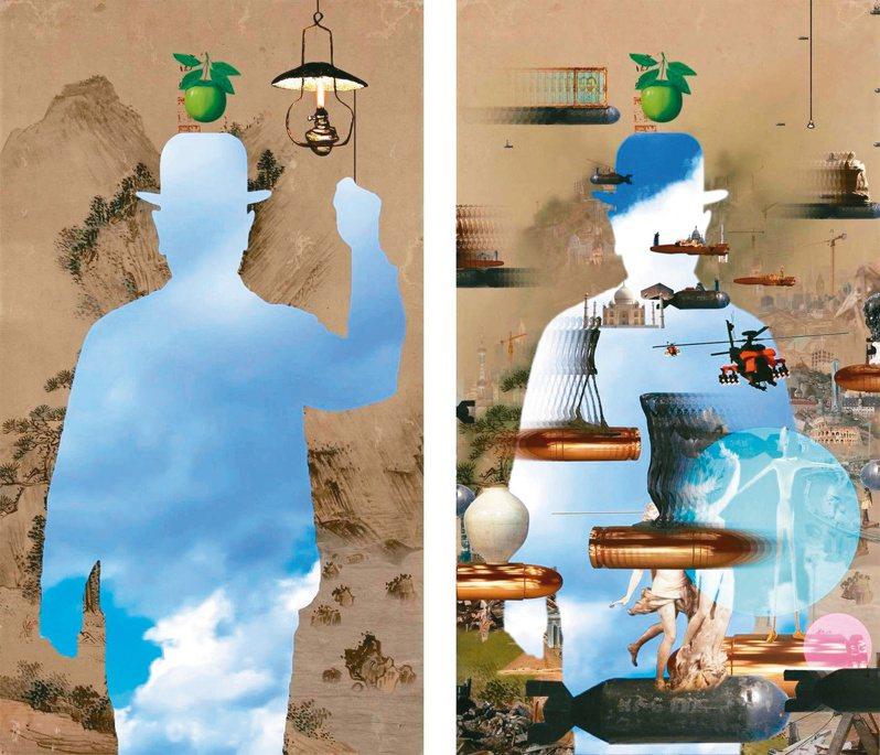 李二男影像裝置〈重生之光與松下觀瀑〉。