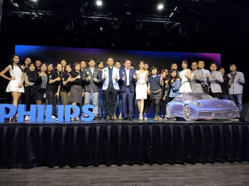 歐系影音大廠飛利浦Philips電視,首度攜手Porsche Design超跑工藝設計,開進家庭影音娛樂領域。記者張義宮/攝影