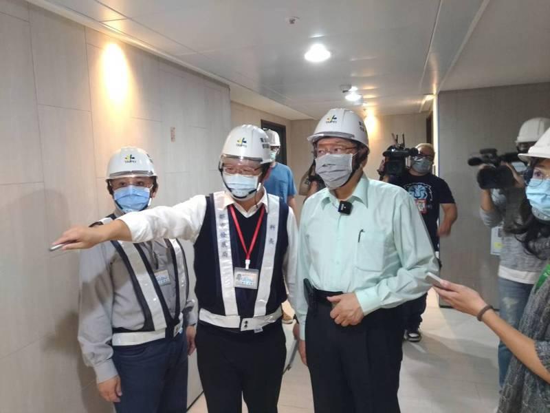 台北市長柯文哲昨視察內湖區即將完工的瑞光社宅。記者林麗玉/攝影